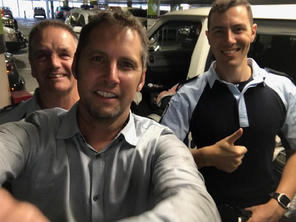 Kitten rescuers - caller Mark centre w AFP Bob n Jordan